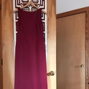 Ann Taylor LOFT Red Formal Dress